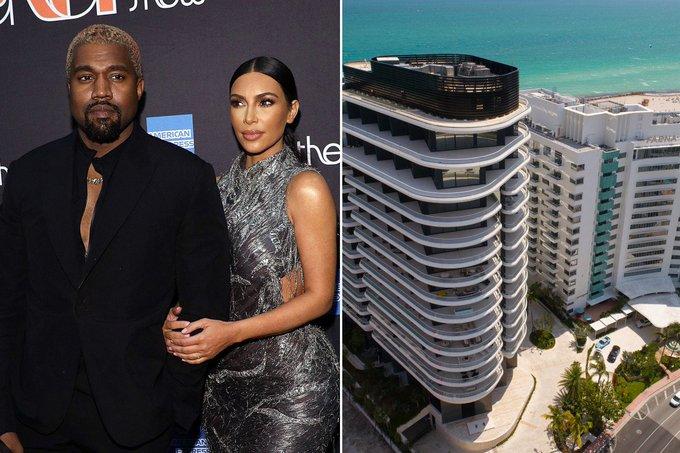 Kanye West buys $14 million Miami condo for Kim Kardashian