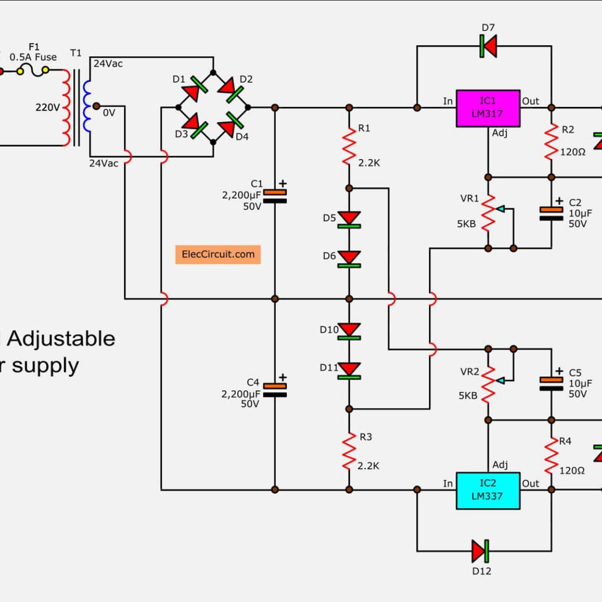0 30v Power Supply Circuit Diagram