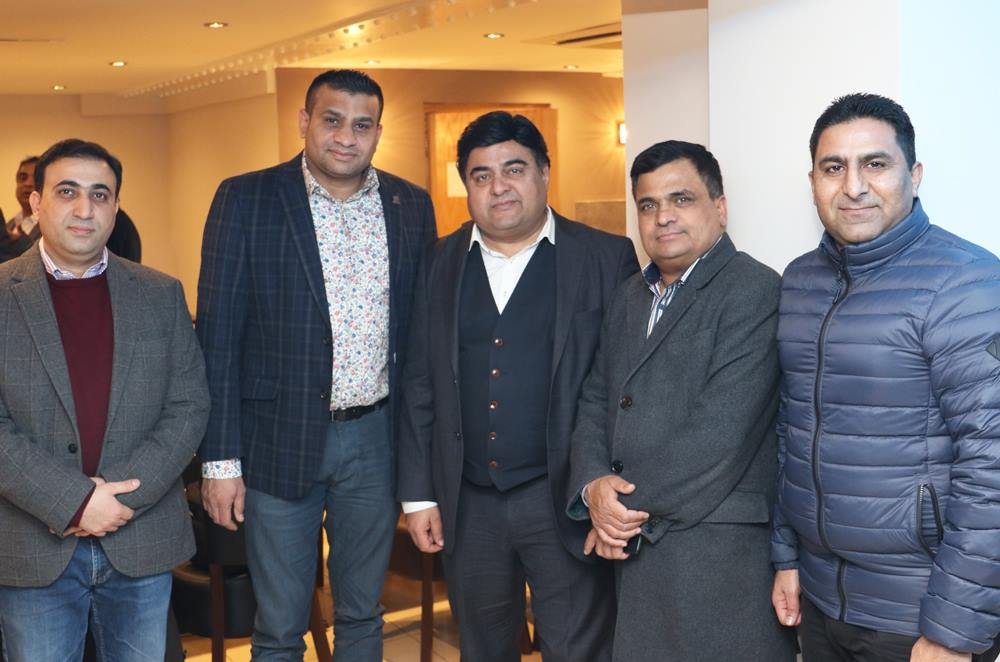 Imran Raja Information Secretary #ppcuk with President Mobeen Chaudhry and others in a reception in honor of newly elected Executive Council of Pakistan Press Club UK