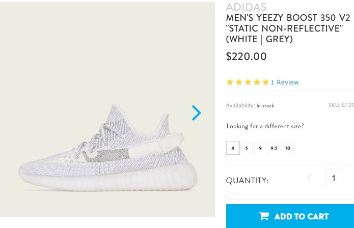 YEEZY BOOST 350 V2 STATIC. AVAILABLE JD