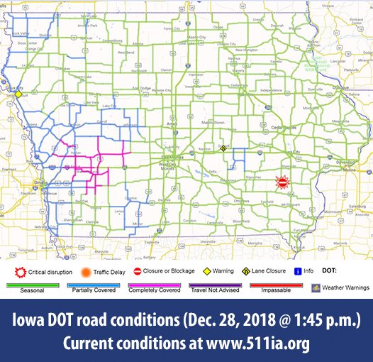 Road Conditions In Iowa Map.Iowa Dot On Twitter Road Conditions Have Improved But There Are