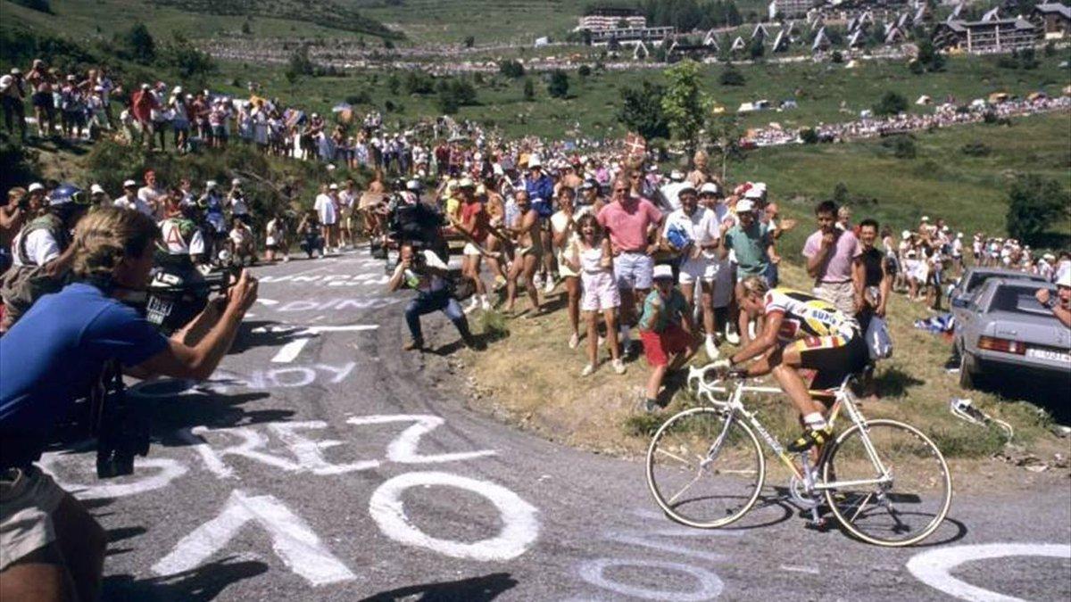 Emi On Twitter Laurent Fignon Winding His Way Up Alpe D Huez Tour De France 1989 Fignon Professeur