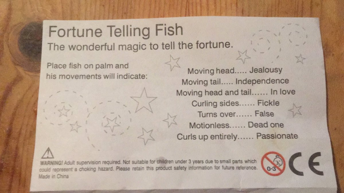 Peter Mcguire Wear A Mask Ventilate On Twitter This Scientifically Proven Fortune Telling Fish Which I Won In A Christmas Cracker Is Jumping Out Of My Hand Fish F 2018 Plastic