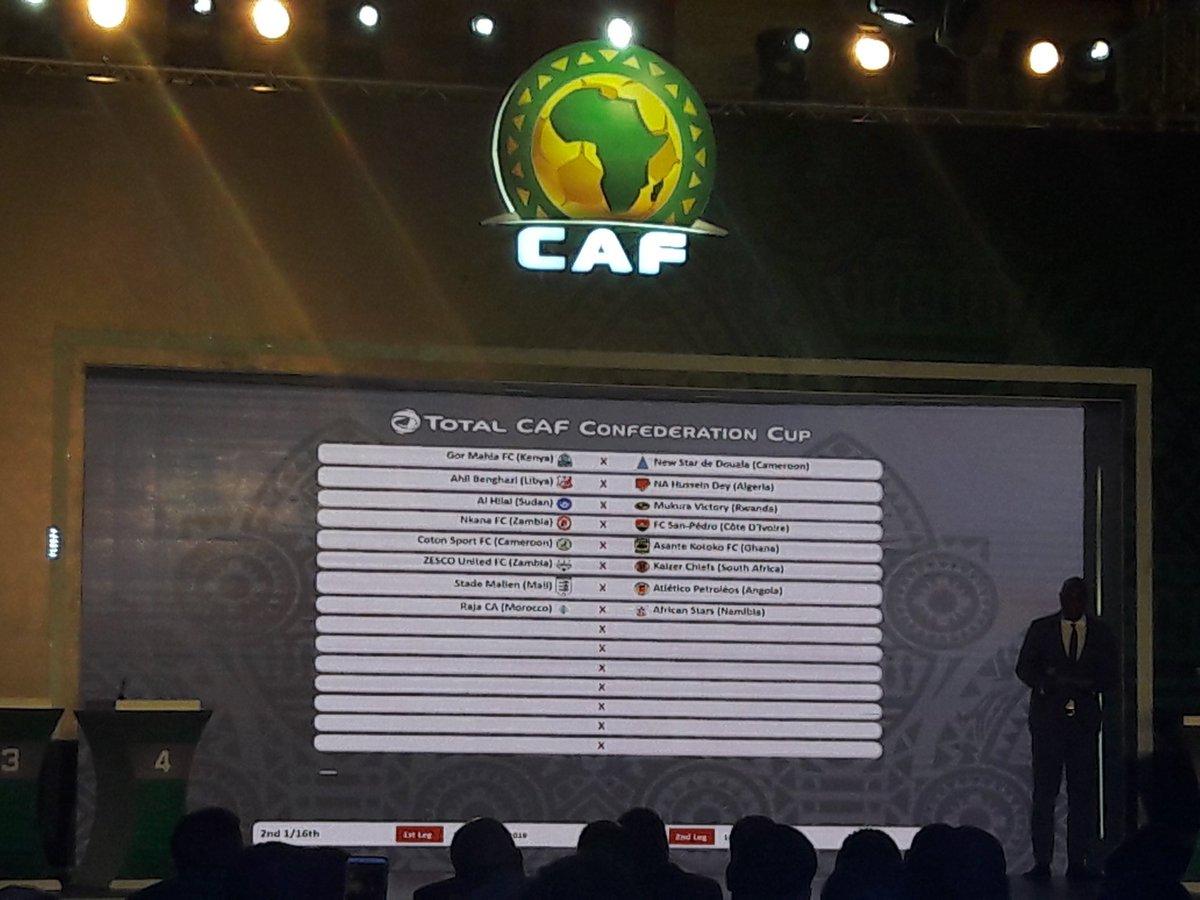 Résultats du tirage au sort des deuxièmes seizièmes de finale de la coupe  la CAF New 823c5e25dd3