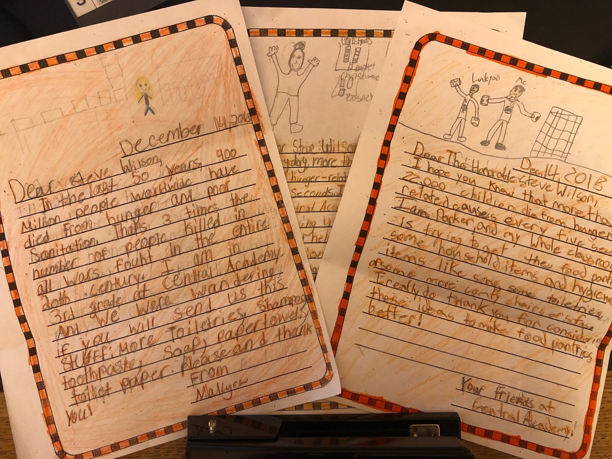 I recently received letters from Ms. Lloyd's 3/4 grade class at Central Academy @MiddletownOH sharing how they've assembled 270 baskets for a local food pantry.  My staff and I are inspired by their efforts and proud to join them in helping Ohioans in need during the holidays.