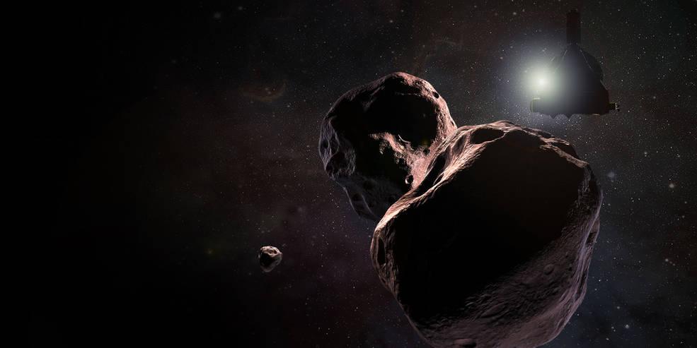 New data hints that 2014 MU69 might have orbital company: a small moon. Credits: NASA/JHUAPL/SwRI