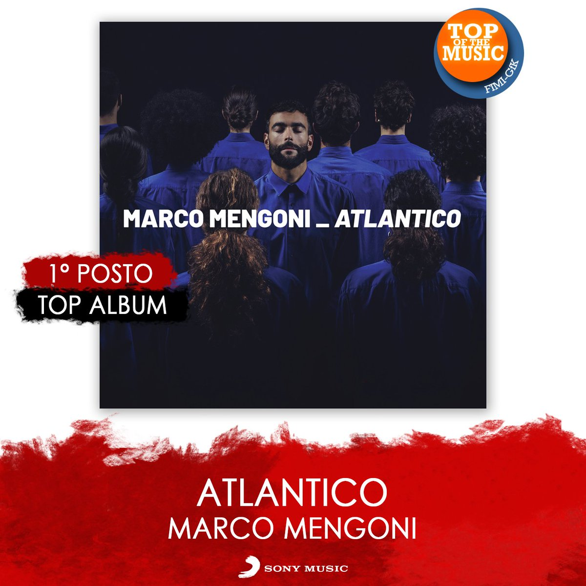#Atlantico di @mengonimarco è ancora una volta al primo posto della classifica degli album più venduti 👏🥇