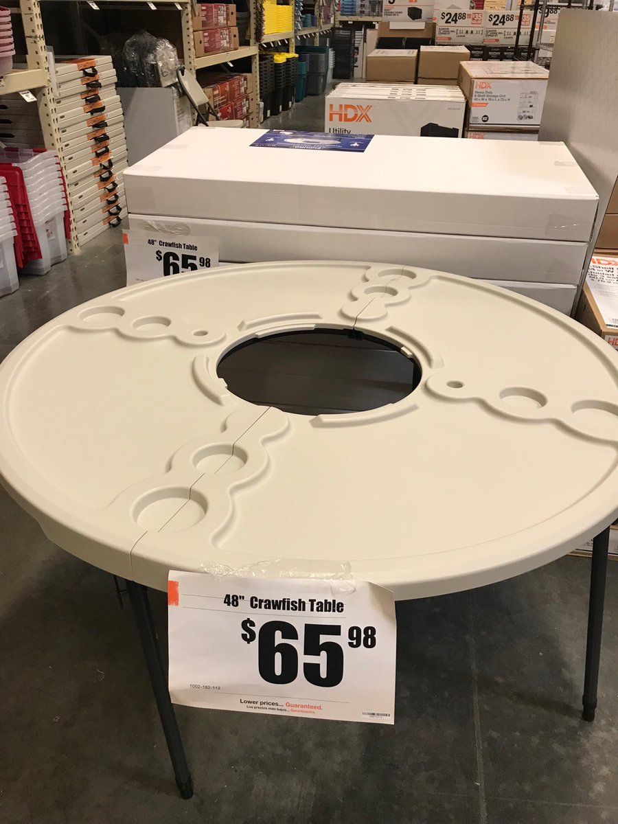 We Have 48 Crawfish Tables Available At The League City Home Depot