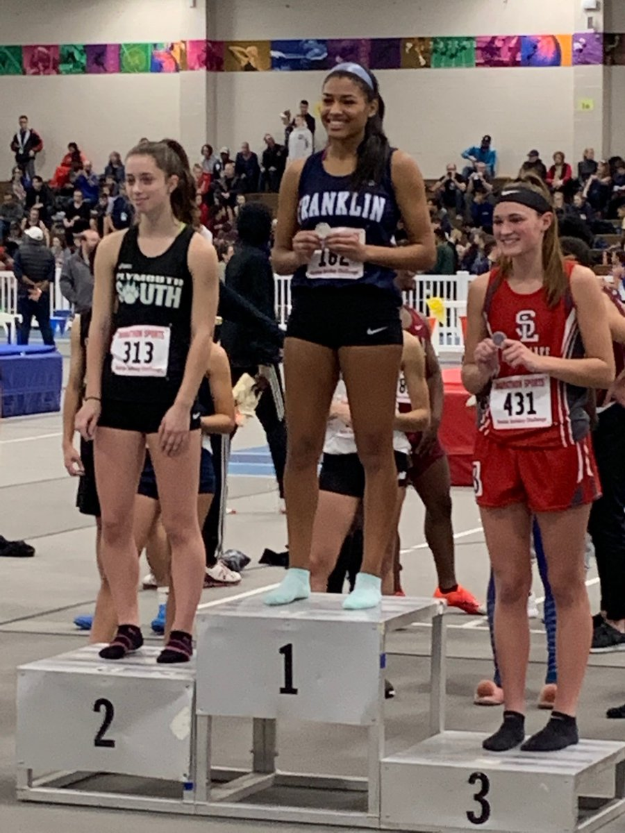 Daniella Pierre of Franklin is the girls 55 Hurdles champion