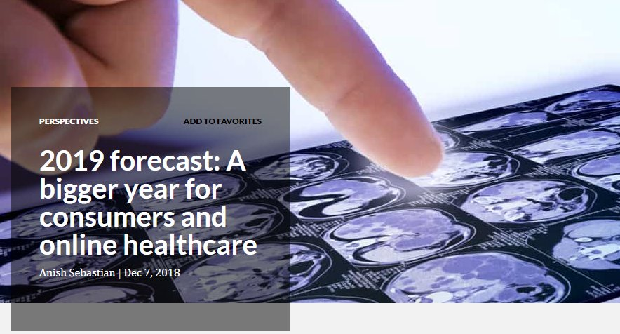 2019 forecast: A bigger year for consumers and online healthcare: https://www.digitalcommerce360.com/2018/12/07/2019-forecast-a-bigger-year-for-consumers-and-online-healthcare/…
