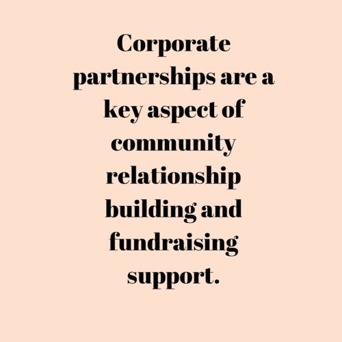 Nonprofits should consider enhancing their corporate partnerships when thinking of the long-term health of the organization. ✨ . .  #nonprofit  #donors #audience #growth #dlgnonprofit  #charity #philanthropy #corporatepartnerships #socialmediamarketing #dlgnonprofitconsulting