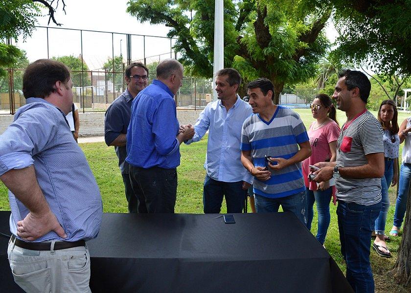 #SantaRosa | Altolaguirre presidió el brindis de fin de año en el Prado Digital