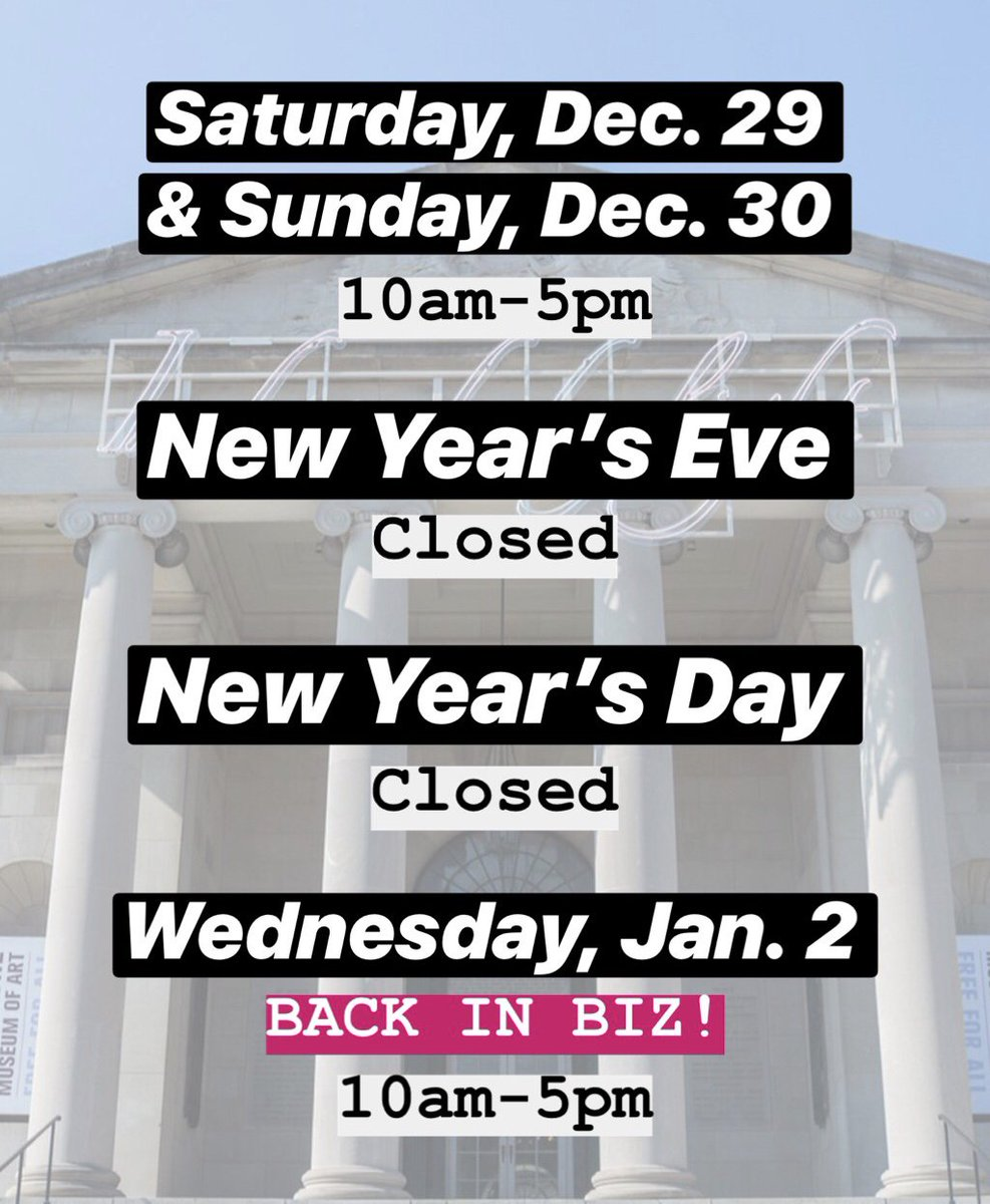 52f3703fd Bring your crew to #artBMA! Take a look at our hours this week. Find more  details to help you plan your visit here: https://artb.ma/2qbhf4R  pic.twitter.com/ ...