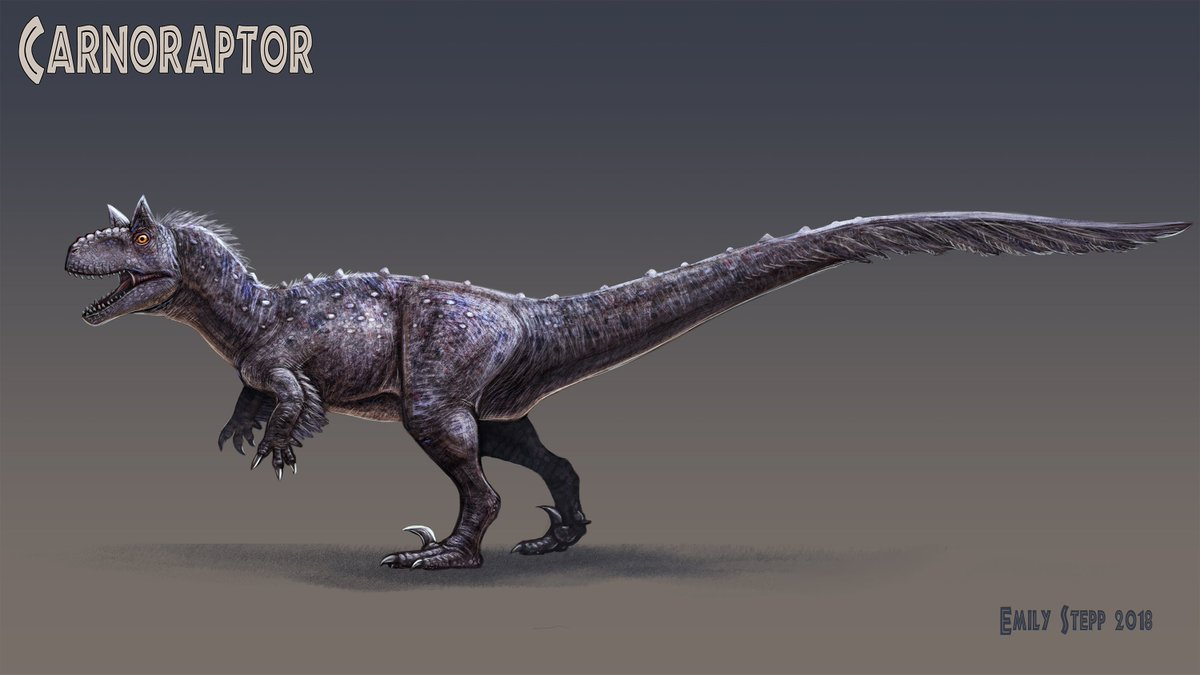 """""""Carnoraptor"""" Trying out my own version of a Jurassic World hybrid because I was inspired by @TapwingARTS and @RaptorHaunches recent renditions.  Go follow them if you haven't already!  #Dinocember #FanArtFriday #JurassicWorld #Dinosaur #Carnoraptor #DinosaurHybrid #ConceptArt"""