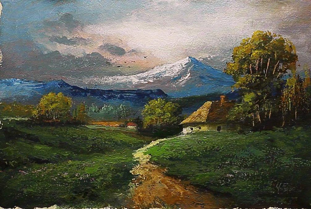Palette Knife Acrylic Landscape Painting By Yasser Fayad https://www.youtube.com/watch?v=wdcN1_EZ15k…