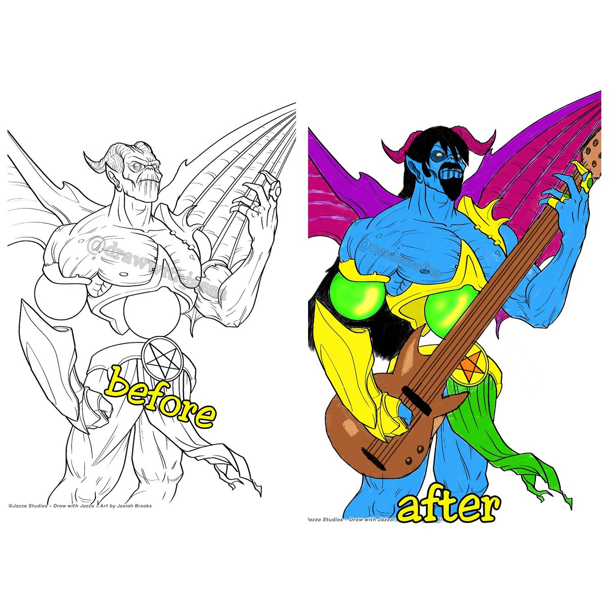 The Second Drawing I Vandalized From Josiahbrooks S Coloring Book