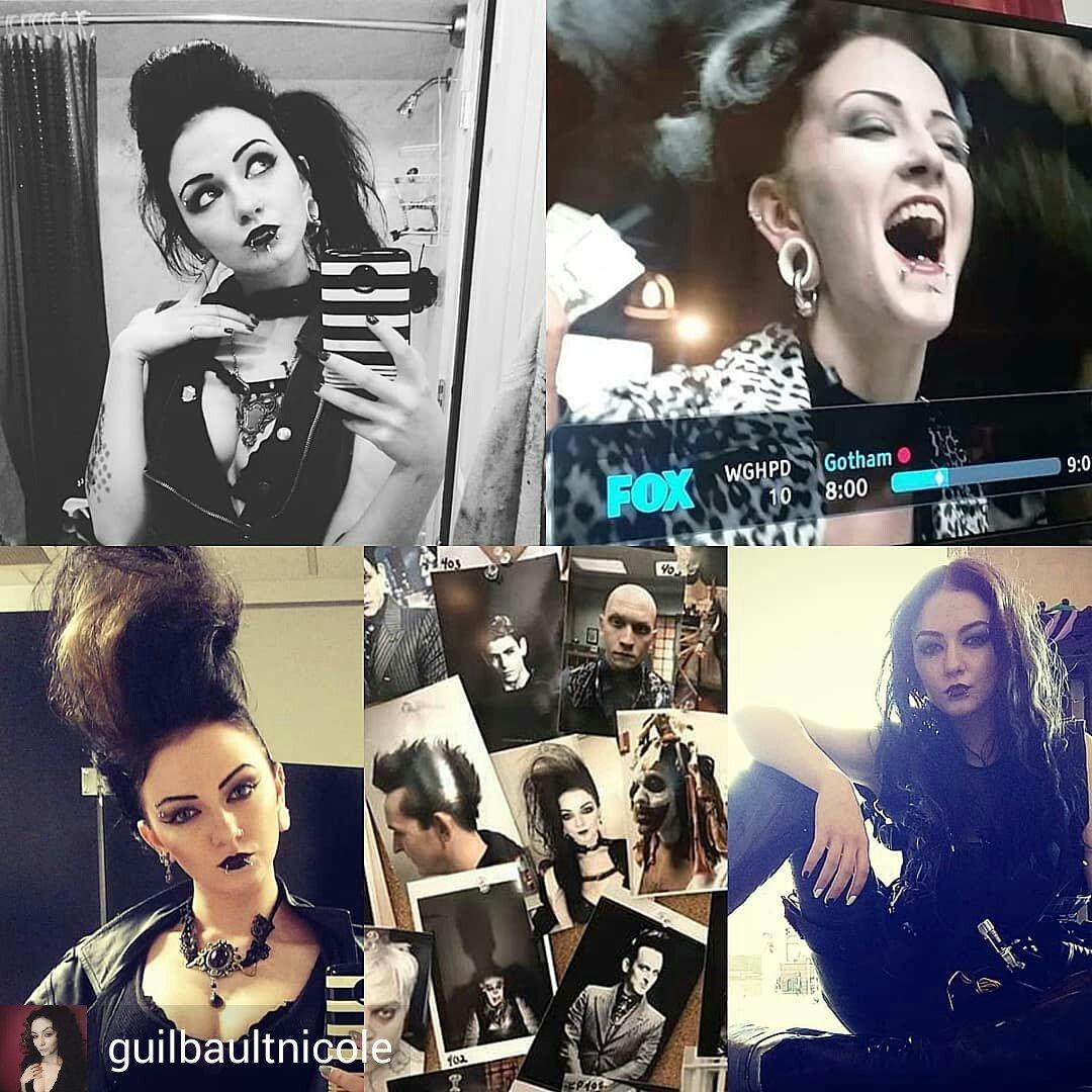 "guilbaultnicole/IG: ""Throw back to my looks from Gotham season 4! #gotham #fox #actress #actor #actorlife #mylife #goth #gothchick #sagaftra #gothamonfox #tv #tvseries #followme #screenactor #makeup #dccomics #nyc #nycactor #throwback""  https://www. instagram.com/p/Br8FriKgrMc/    <br>http://pic.twitter.com/dTmflaaNBR"
