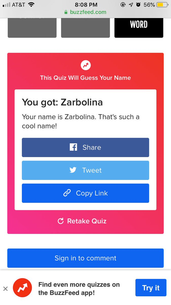 Buzzfeed Guess Your Name