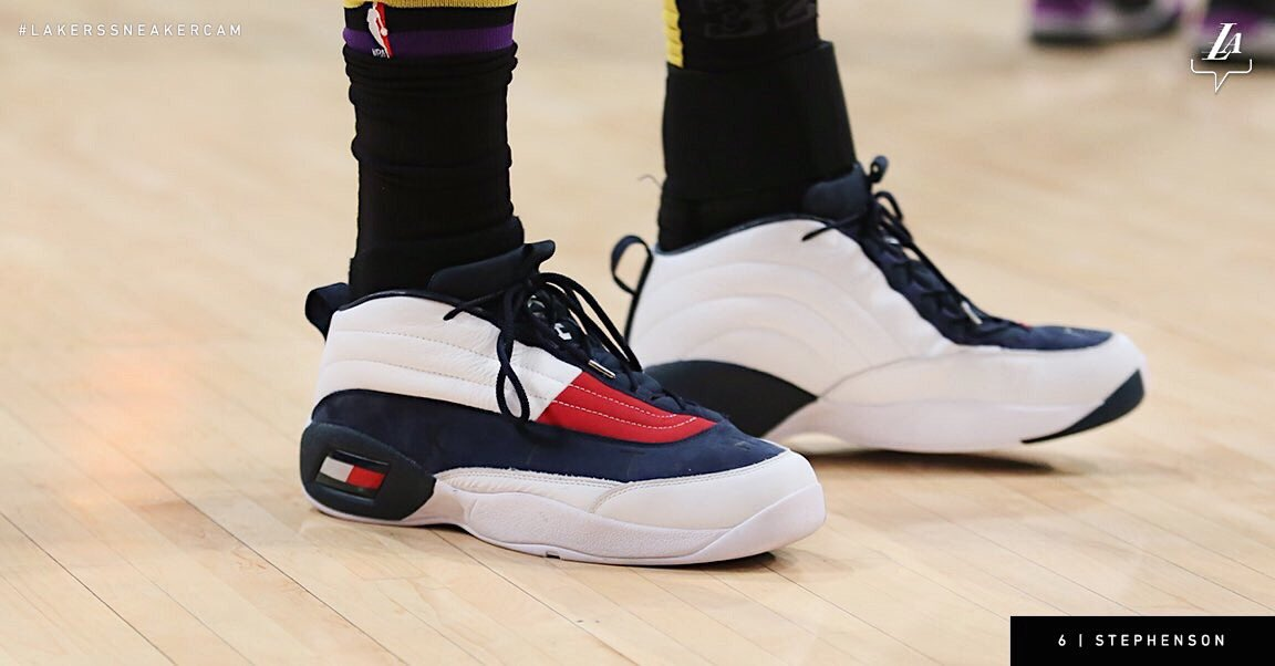 16304e11c8e84 StephensonLance wearing the  KITH x  TommyHilfiger Skew Lux against the  Clippers.