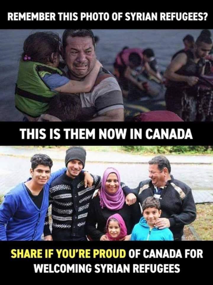 test Twitter Media - Vous souvenez-vous de cette photo de réfugiés Syriens ?  Les voici, aujourd'hui, au Canada... Une photo qui parle d'elle même 😍  The picture speaks for itself 😍 #Canada #syrianrefugee https://t.co/5o9WJyAhfw