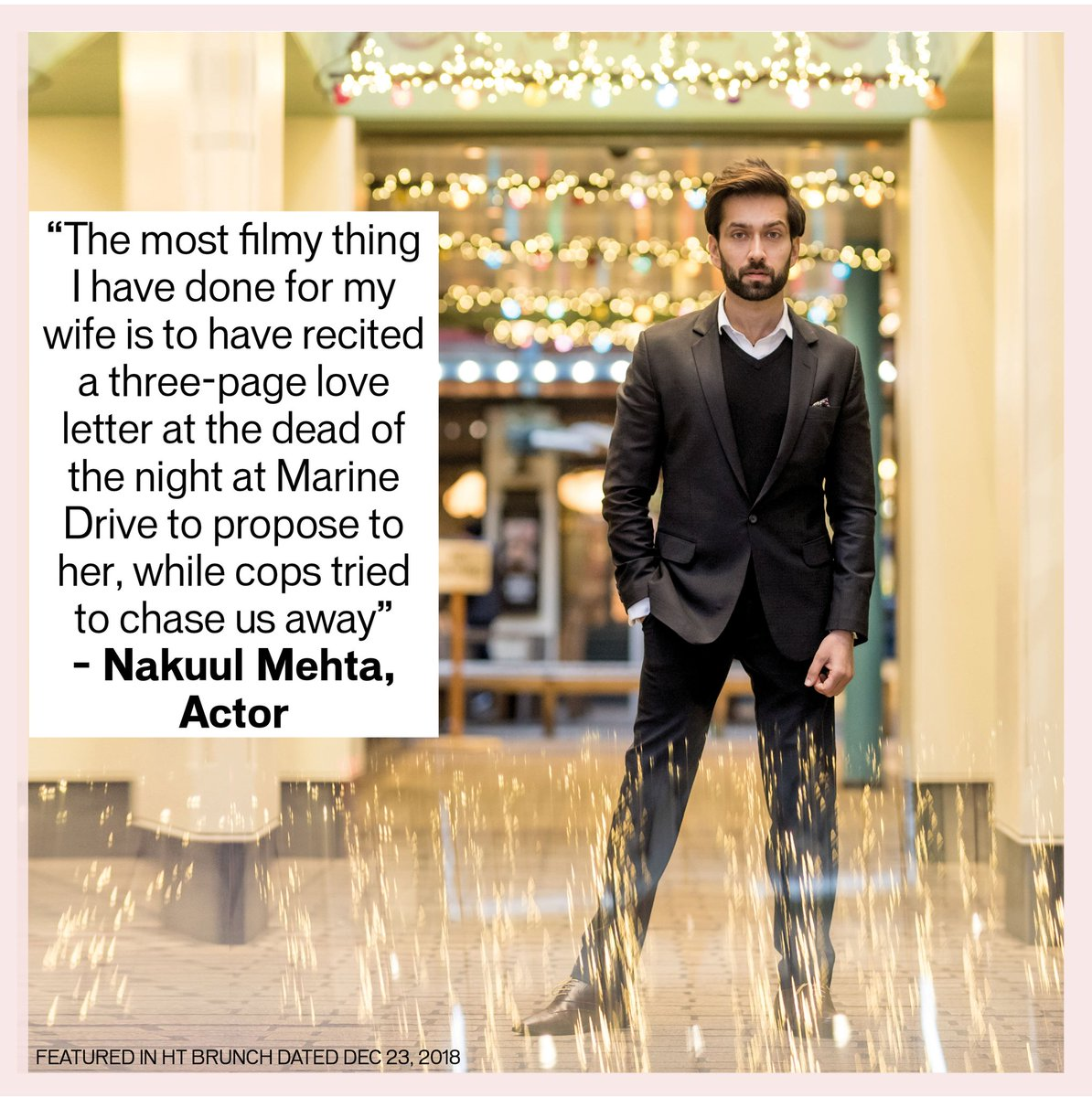 Meet a dashing television star who is rather filmy in real life! @NakuulMehta @htTweets #personalagenda #actorswelove #tvshows #tvactors  #nakuulmehta  #starswelove