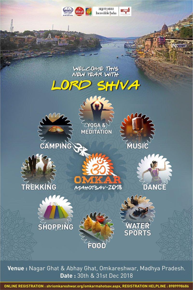 Omkar Mahotsav tomorrow ! Welcome 2019 with multi activity experience in Madhya Pradesh.  https://t.co/8CjJ7IJq93      #mp #MPTourism #forest #trails @MPTourism @DM_Khandwa https://t.co/Gzed9ljMJ3
