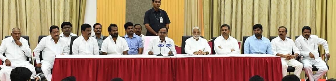 Telangana CM KCR slamming AP CM Chandrababu Naidu at a latest press meet in Hyderabad