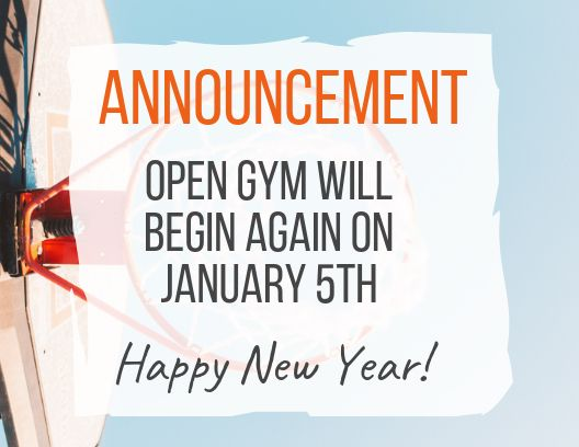 test Twitter Media - Reminder: In observance of the Holiday season, Open Gym will recommence on Saturday, January 5th. Happy New Year! 🎆 https://t.co/jFnFfojlg0