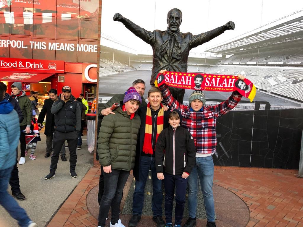 Excitement here at Anfield, as we build up to #LIVARS