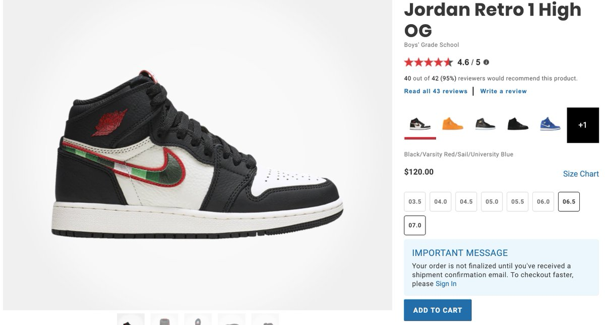 Ad  Couple of GS sizes Air Jordan 1 High OG  Sports Illustrated    ea8f965b7