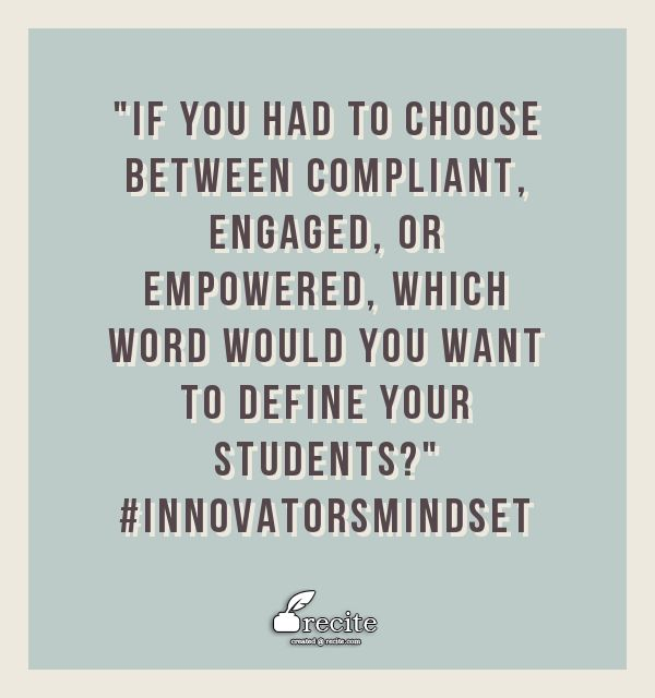 """3 Myths About """"Empowering"""" Students in Schools Today buff.ly/2iCzddt #InnovatorsMindset"""