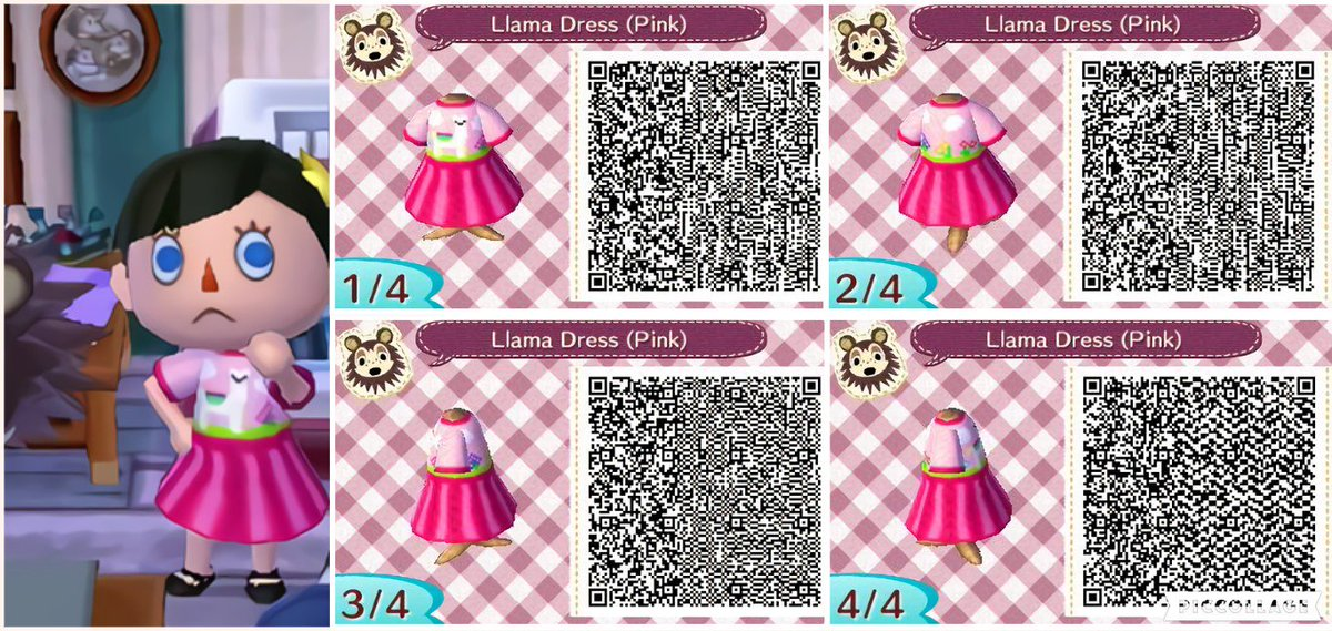 kawaii animal crossing floor qr codes