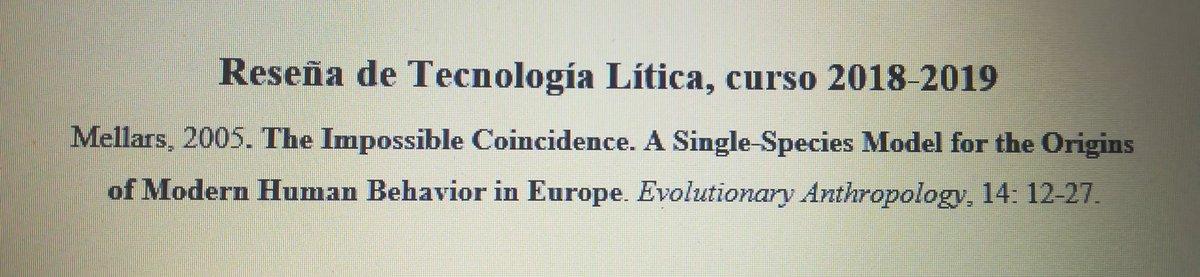 Dos últimos trabajos del máster del año, que no del curso, y muy satisfecho. Dos temas/artículos, más o menos controvertidos, cada uno en su ámbito. #Chatelperronian #UpperPaleolithic #Neanderthals #ModernHumanBehavior #HomoAntecessor #GranDolina #TD6 #Atapuerca #HumanEvolution