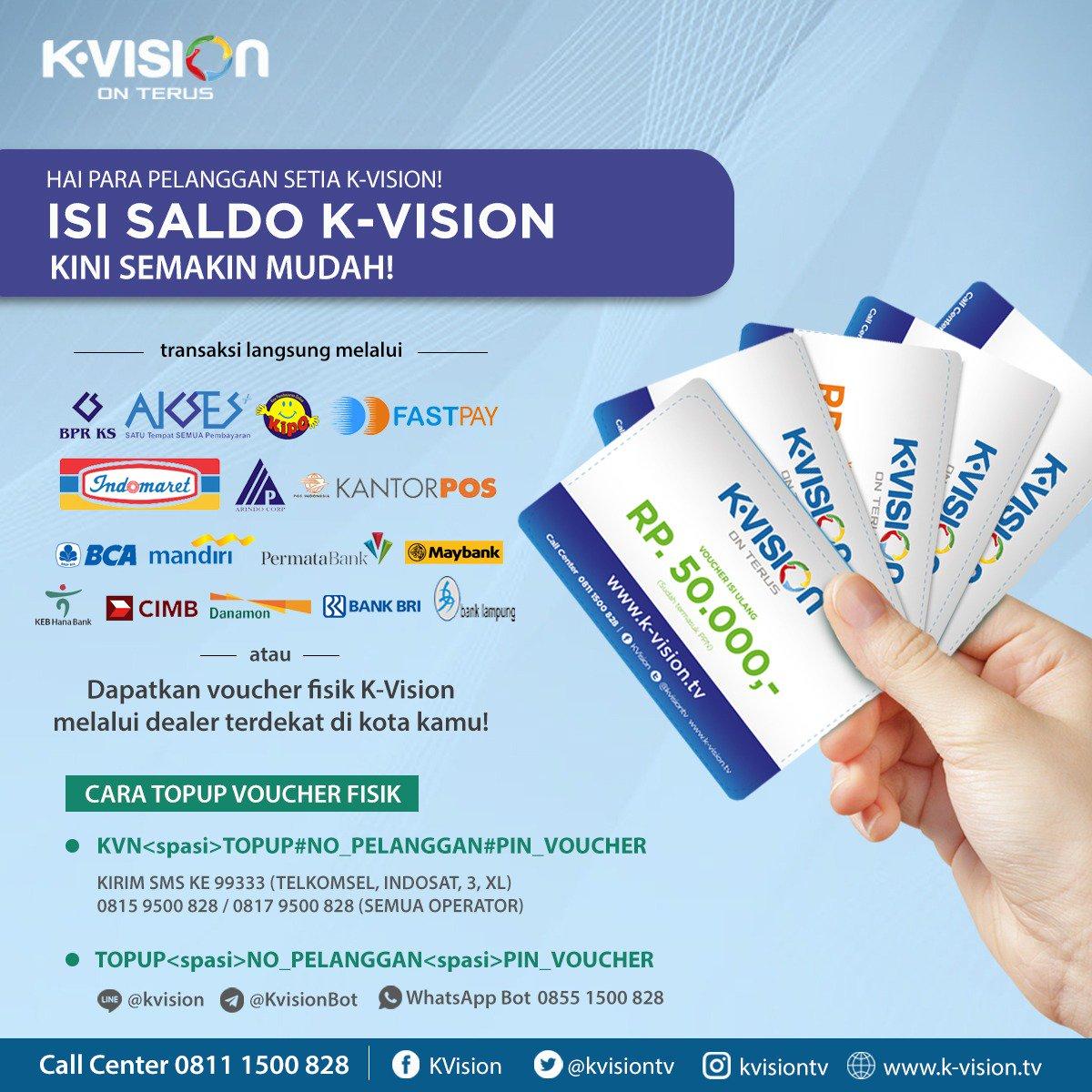 Kvision On Twitter Pelanggan K Vision Melakukan Aktivasi Secara Langsung 3 Bulan Dengan Menggunakan Kode J301 Dengan Syarat Pelanggan Memiliki Saldo Sebesar Rp 540 000 Https T Co C8ro91pw5m