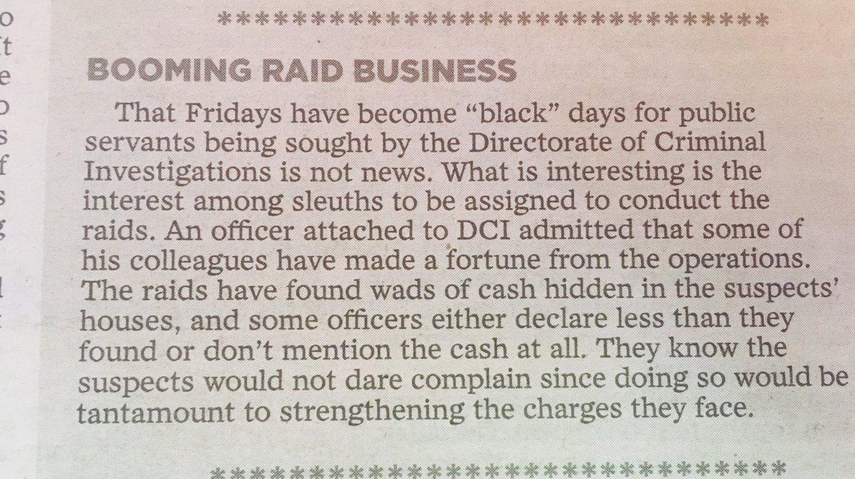 @DCI_Kenya @ODPP_KE is there a booming business on the weekend raid?
