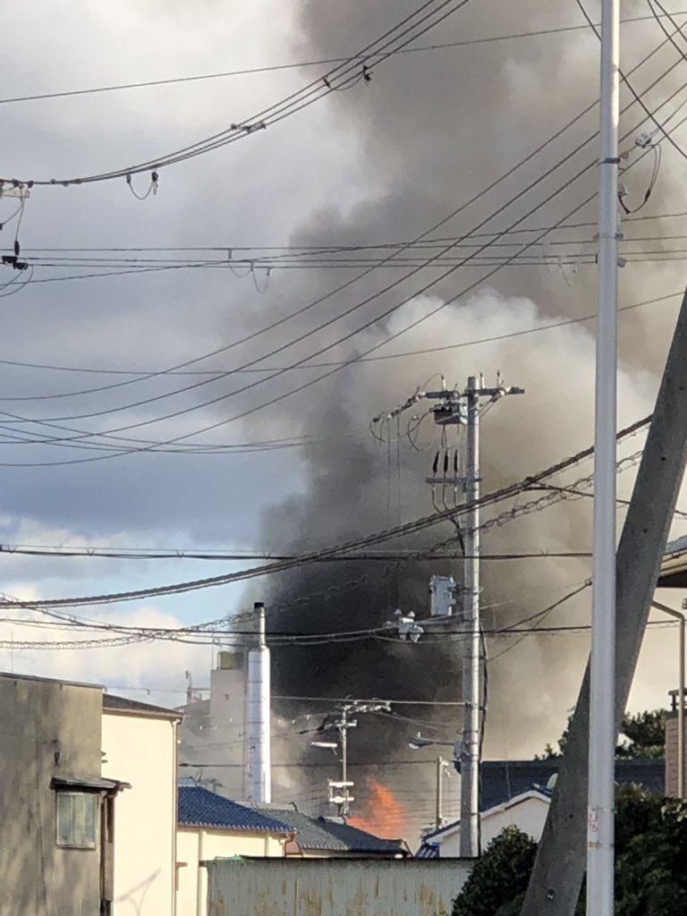 大阪市東淀川区西淡路の住宅で火事の現場画像