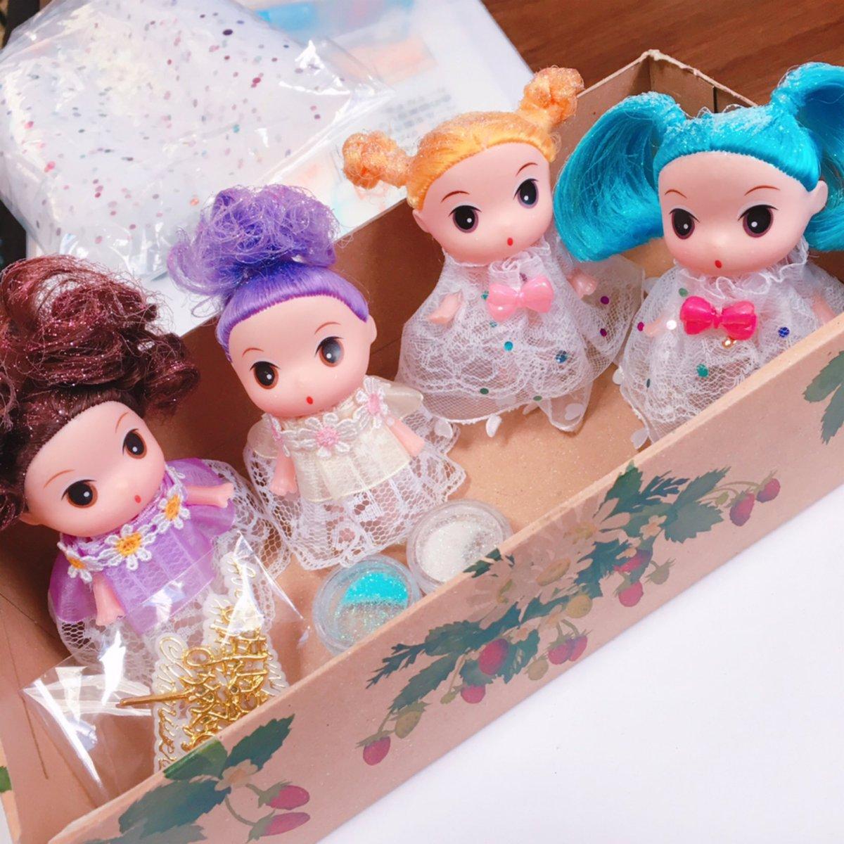 test ツイッターメディア - セリアのブリリアントドールミニョンという劇的にかわいいお人形をカスタムしたよ??うーーんかわいい??クレヨンしんちゃん系のキョトン顔に一目惚れ??彼女たちは作品のどこかに登場し活躍してくれる予定  #ブリリアントドール #セリア #100均 https://t.co/gcV1JxLiqe