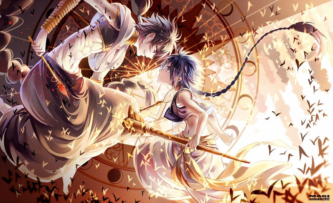 The Battle of the Magi: Aladdin vs Judar 🧙✨  Artist:   #magi #thelabyrinthofmagic #thekingdomofmagic #anime #animeart #otaku
