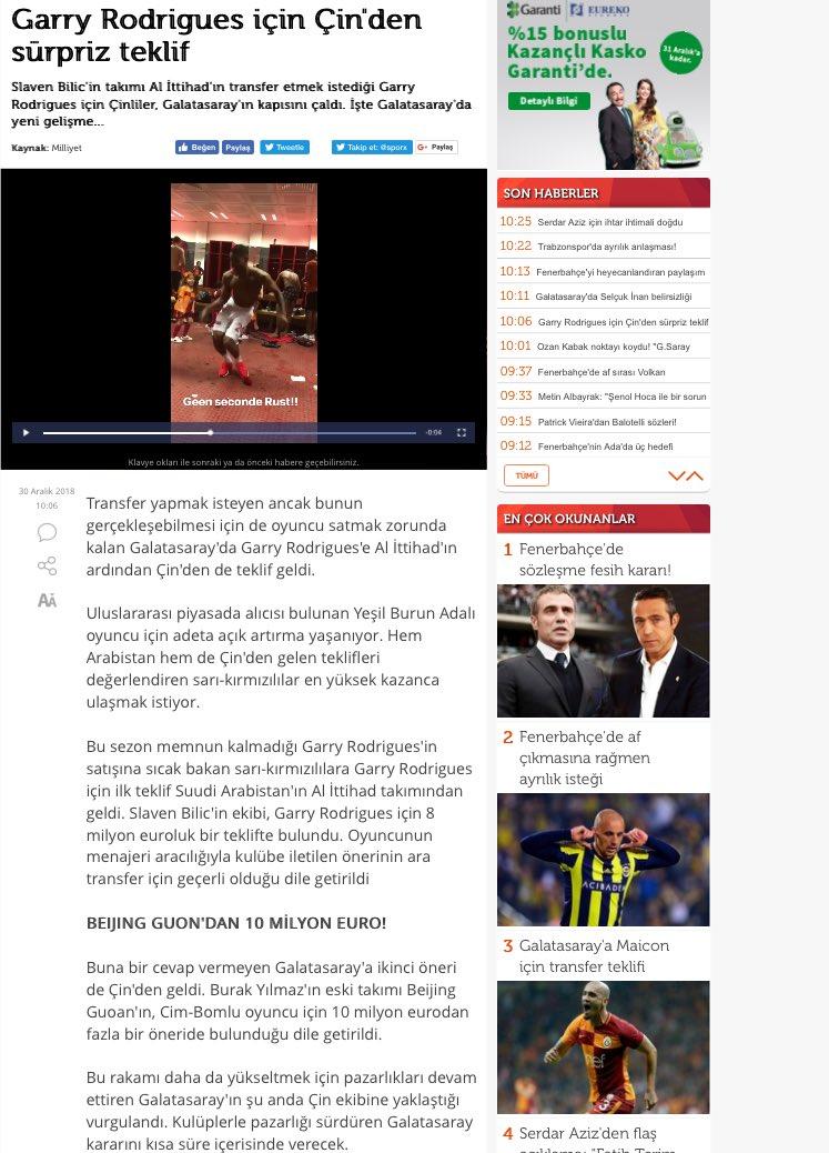 """""""Sporx"""" التركية    عرض مفاجيء من الصين بأكثر من 10 مليون يورو يؤجل انتقال غاري رودريغ"""