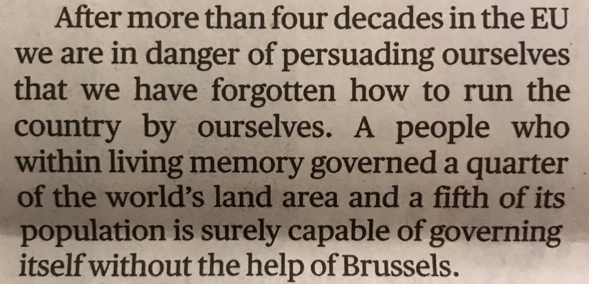 The Sunday Times has gone full British Empire in its editorial this morning. Welcome to 2019 😃