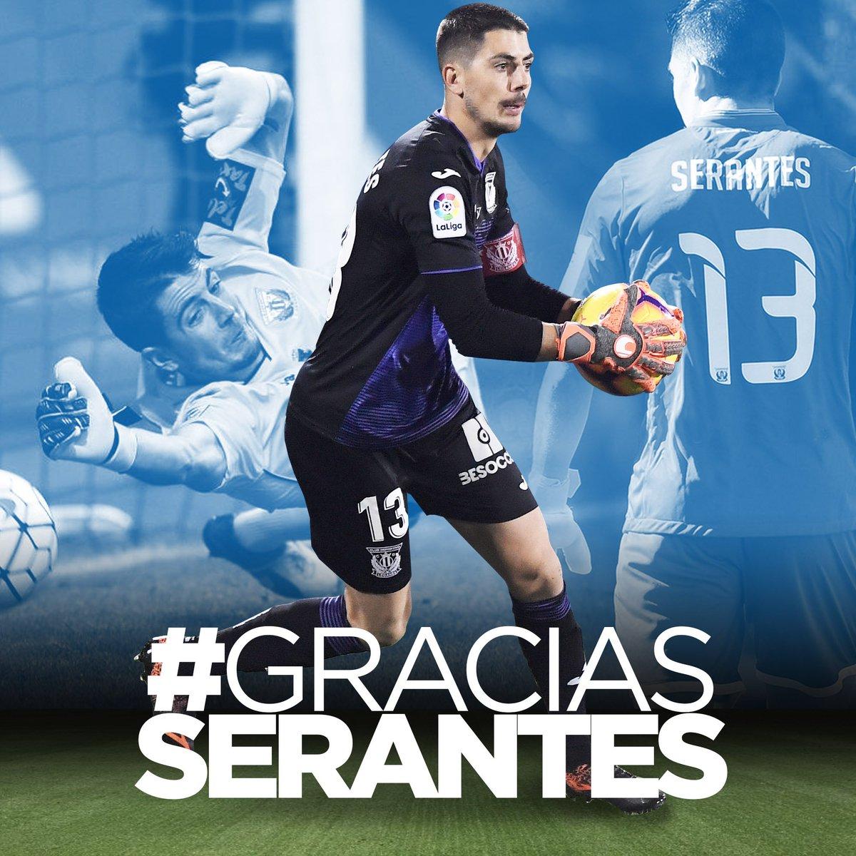 Despedida del Leganés a Serantes.