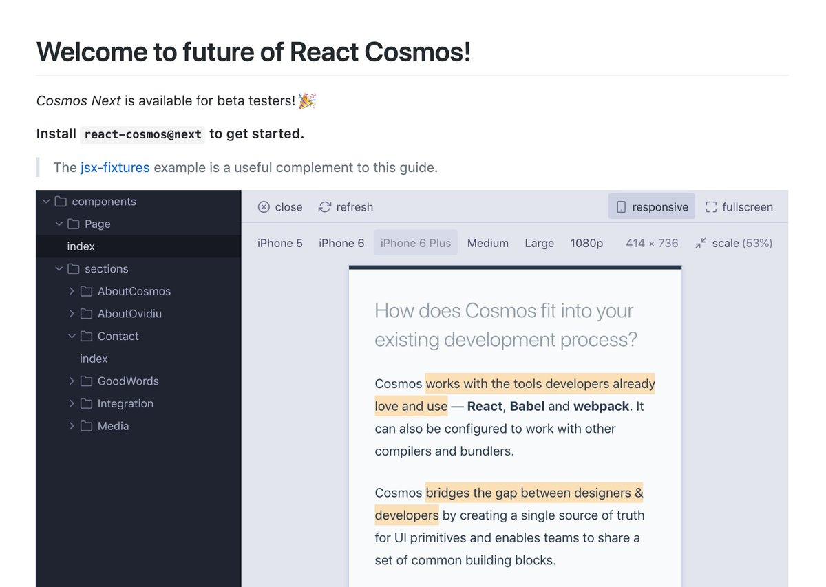 React Cosmos (@ReactCosmos)   Twitter