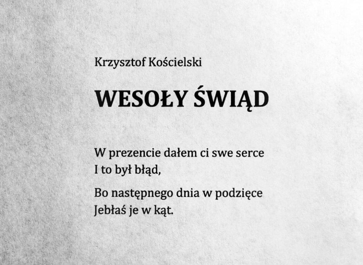 Gosia Malkowska On Twitter Poezja Na Niedziele Po świętach