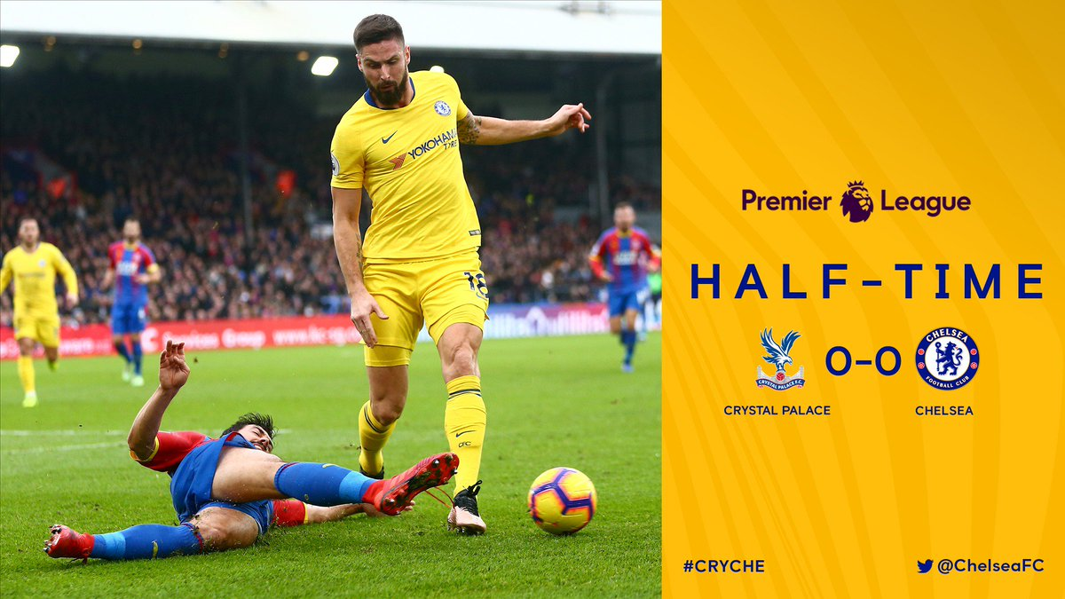 Half-time: 0-0   #CRYCHE