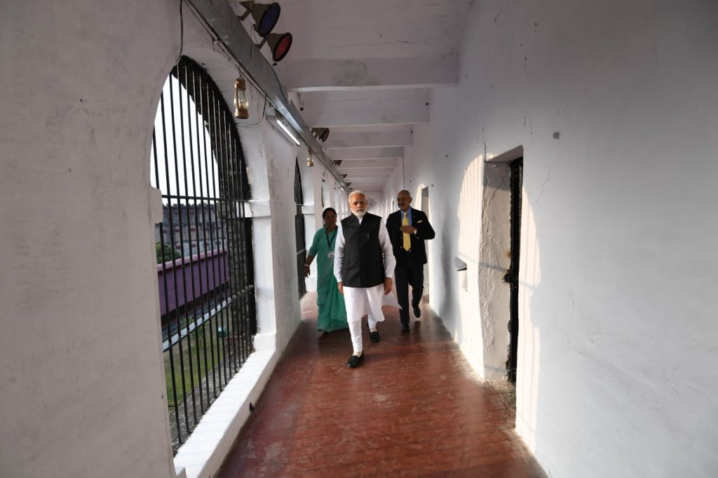 Cellular Jail...this is where colonial rulers sent several nationalists and freedom fighters who fiercely resisted imperialism.   Today, I had the privilege of visiting the Cellular Jail and paying homage to those greats who toiled for us and our freedom.