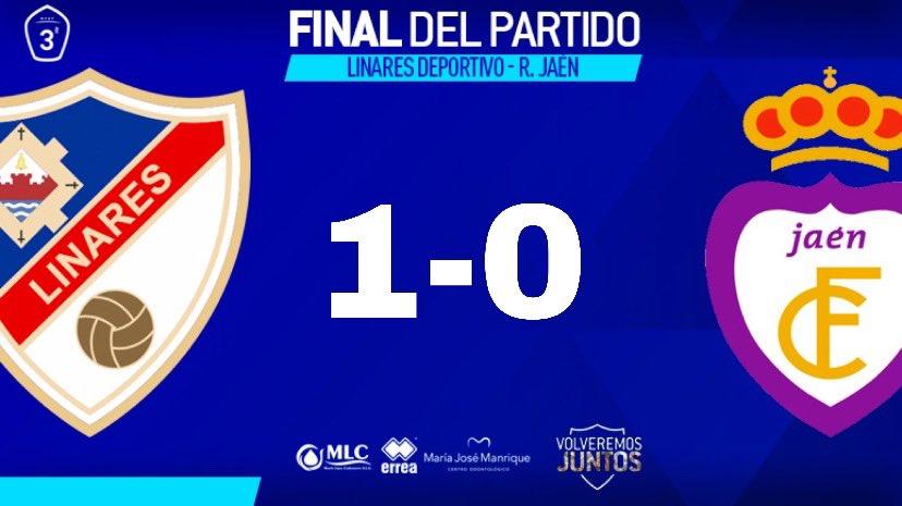 FINAL   1-0   Dicho y hecho ➡️ #LinarejosGANAderbis. 🏟💙✌🔝  #LinaresJaén
