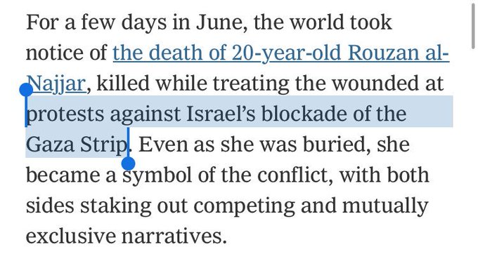 Without Ever Using Word Blog Nyt Admits >> The New York Times Says A Palestinian Medic S Death In Gaza Could Be