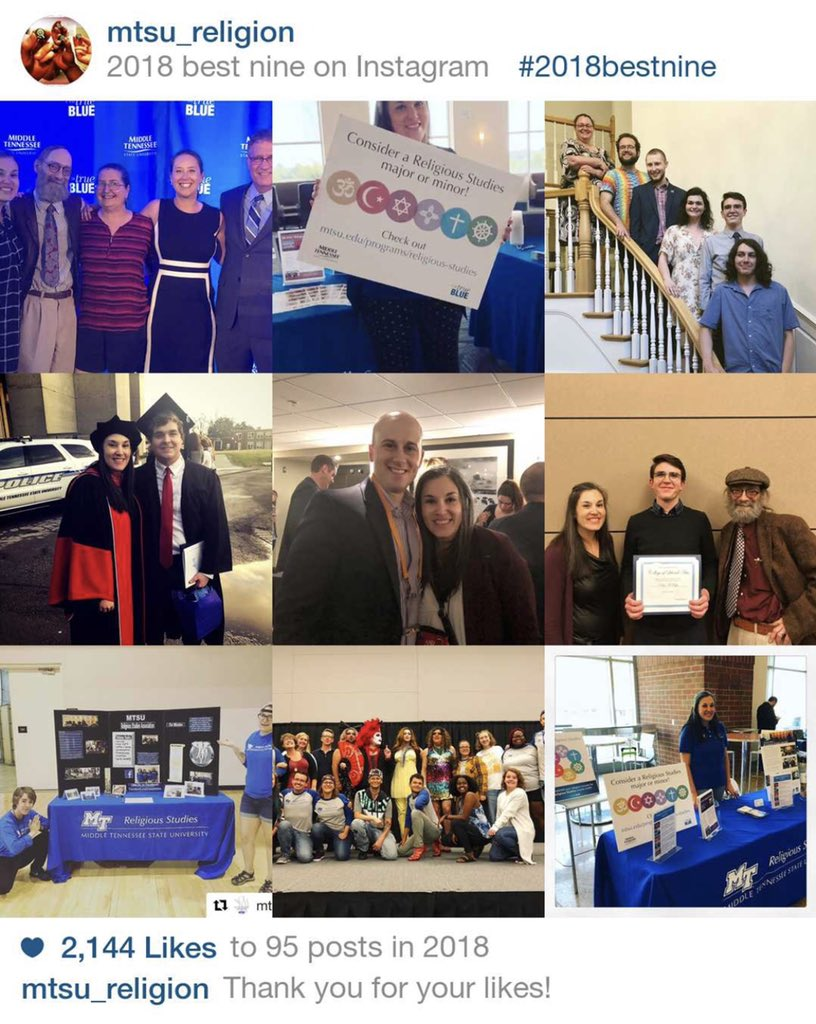 Our most liked posts from 2018! #mtsureligion #bestnine2018 #yearinreview #mtsu #2018bestnine https://t.co/hjVkEAeUek
