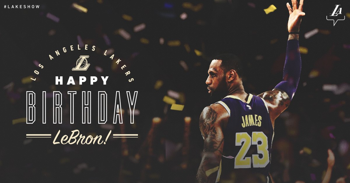 It's a royal birthday! 👑Have a day, @KingJames!