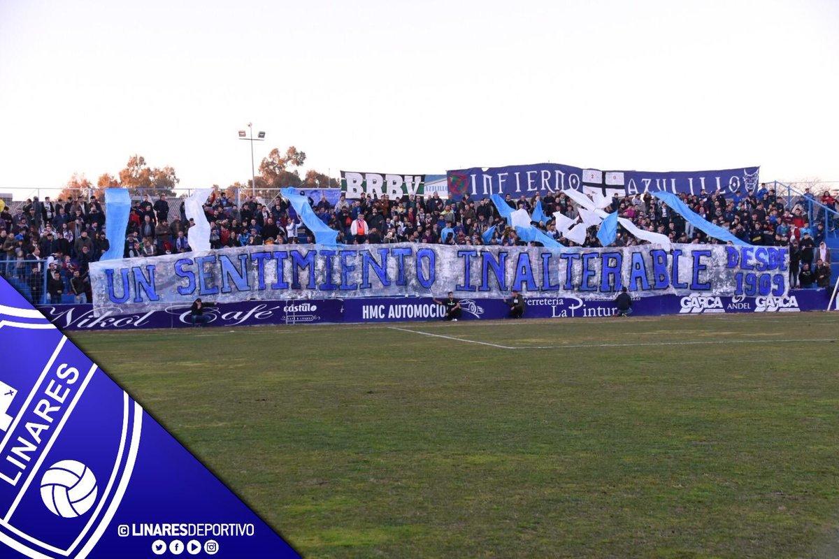 🏟 ASISTENCIA   ¡Hoy somos 5.103 espectadores en el Estadio de Linarejos!  ¡Gracias afición! 🙌🏼  #LinarejosGANADerbis 💙🏟